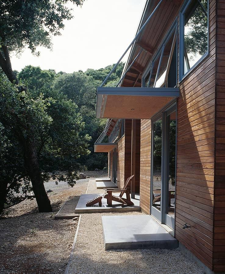 Open porch of The Manzanita House designed by Klopf Architecture.