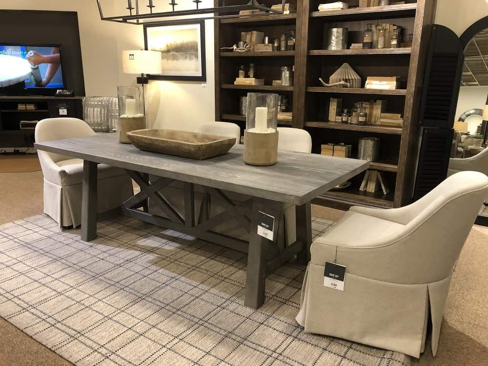 BenchMade Oak Dining Table by Bassett