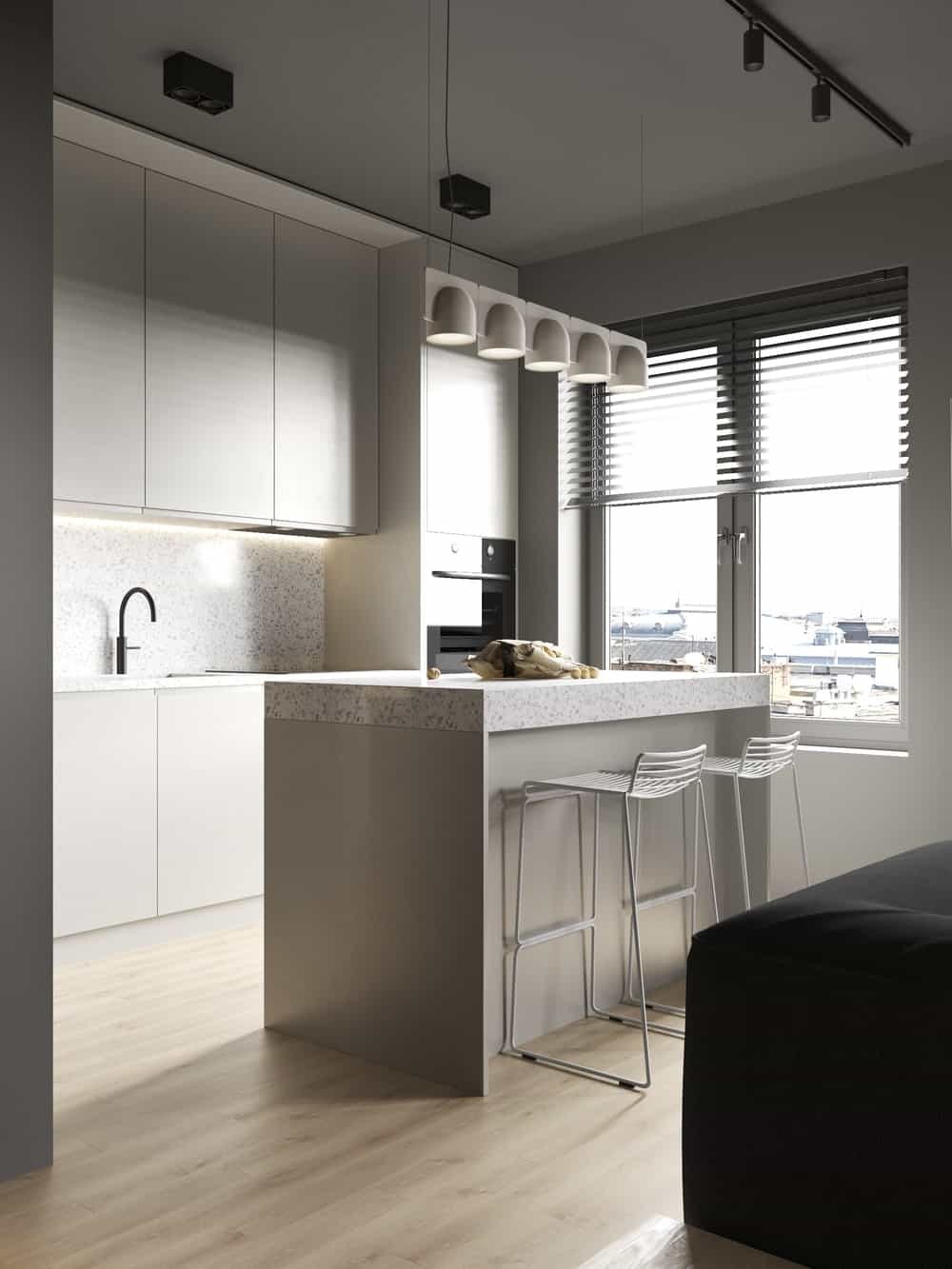 Kitchen in the Goose designed by Cartelle Design.