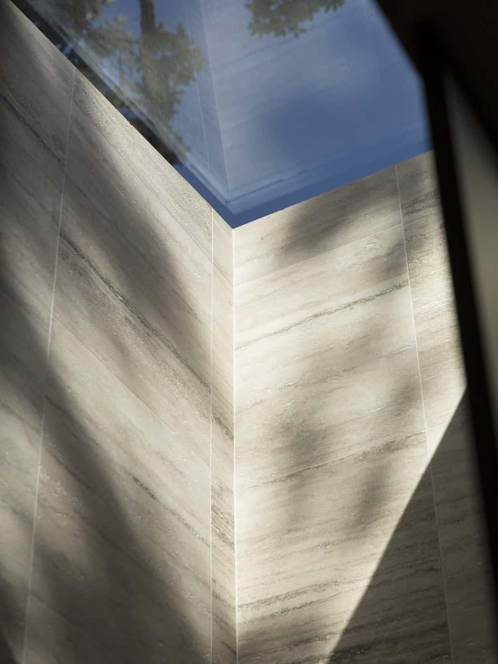 Bathroom skylight in the Herne Bay Hideaway designed by Lloyd Hartley Architects.