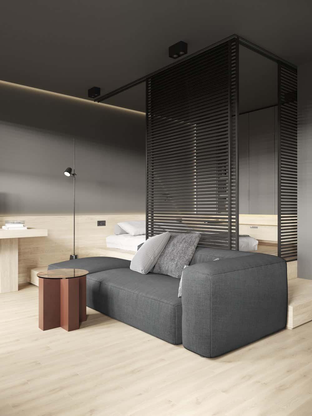 Living room in the Goose designed by Cartelle Design.