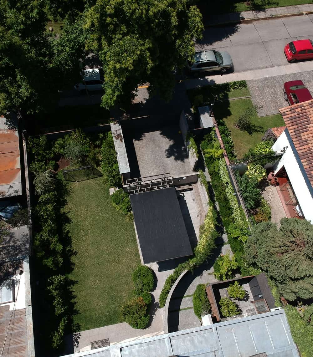 Aerial view of the Golfo de Darien House designed by Cristobal Vial Arquitectos.