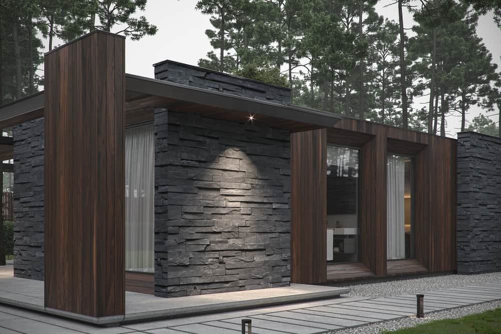 Exterior of the Forest House designed by Bezmirno.