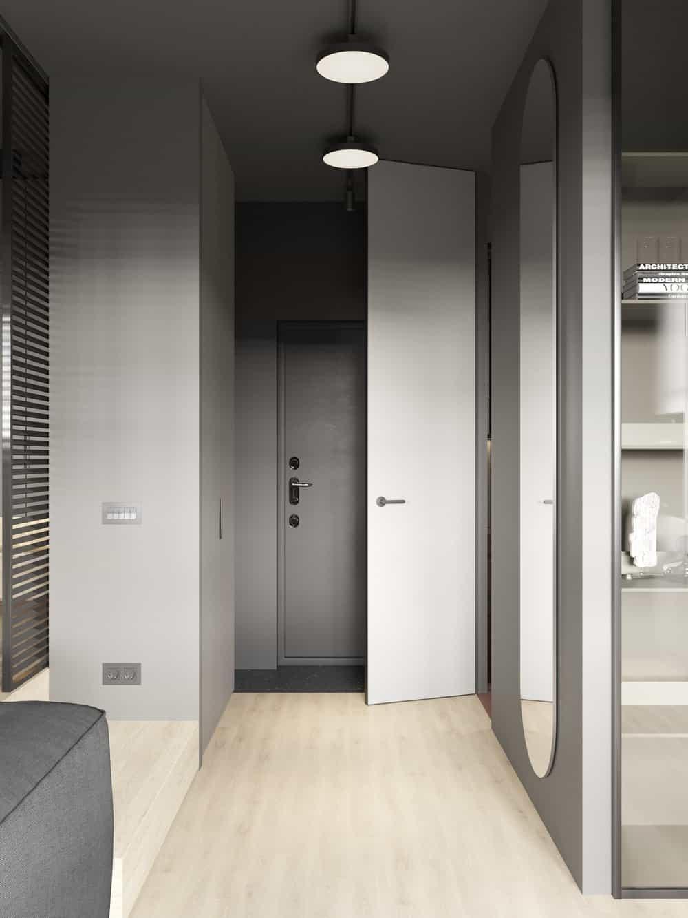 Walk-in closet in the Goose designed by Cartelle Design.