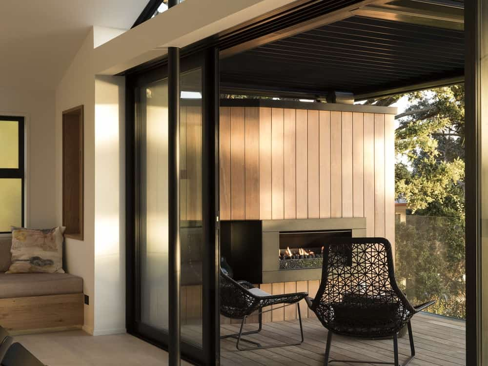Seating area in the Herne Bay Hideaway designed by Lloyd Hartley Architects.