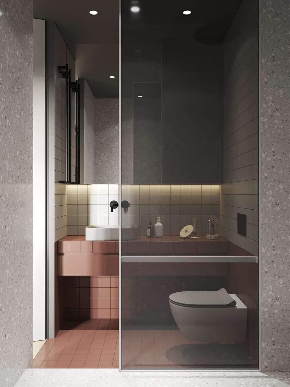 Bathroom in the Goose designed by Cartelle Design.
