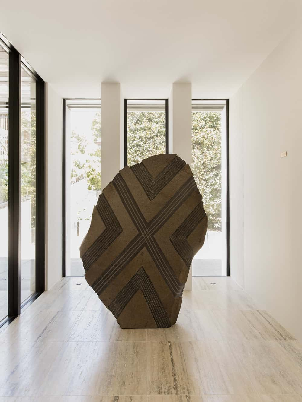 Foyer in the Herne Bay Hideaway designed by Lloyd Hartley Architects.