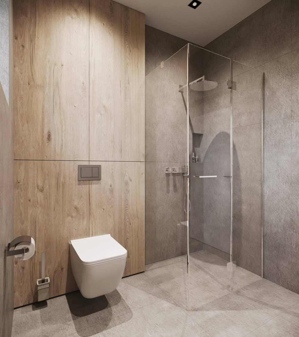 Bathroom in the Minimalist Home Interior designed by Johny Mrazko and Studioe.
