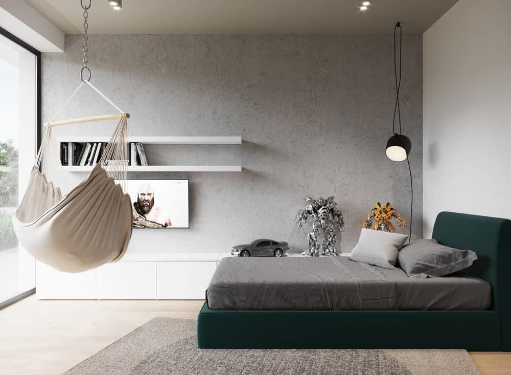 Kid's bedroom in the Minimalist Home Interior designed by Johny Mrazko and Studioe.