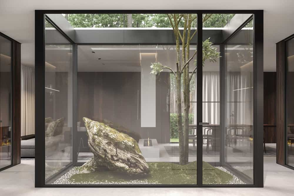 Green space in the Forest House designed by Bezmirno.