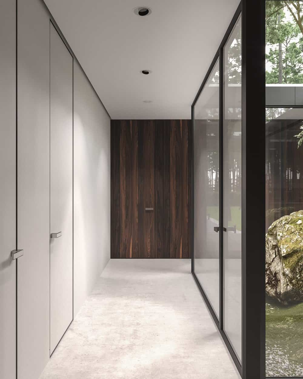Entryway in the Forest House designed by Bezmirno.