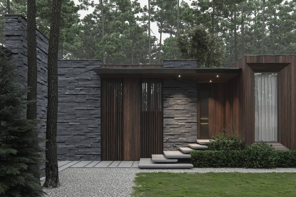 Home facade of the Forest House designed by Bezmirno.