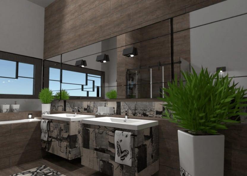 Stunning double bathroom sinks