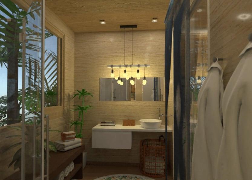 Inexpensive bathroom design