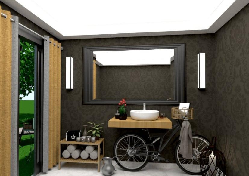 Funky bathroom design