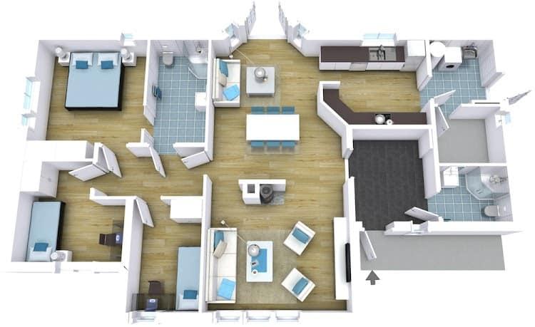 Stunning 3D floor plan example