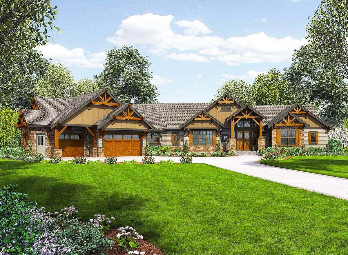 Spectacular 4 Bedroom Mountain Craftsman Single Story Home