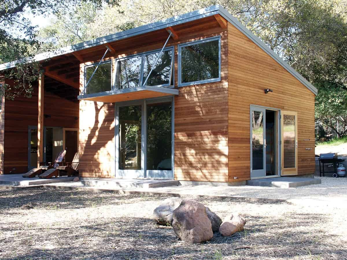 Front exterior view of The Manzanita House designed by Klopf Architecture.