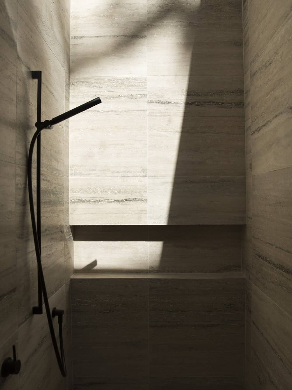 Shower area in the Herne Bay Hideaway designed by Lloyd Hartley Architects.