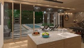 Design a virtual kitchen island