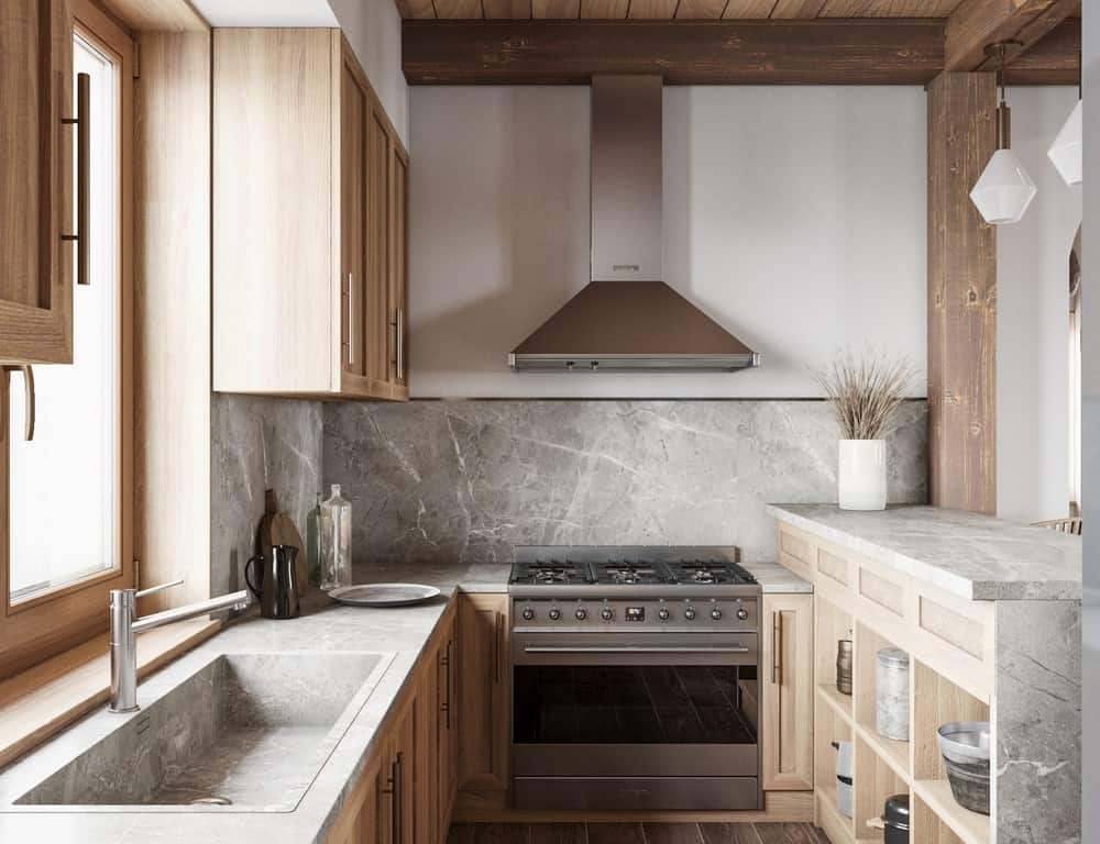Kitchen in the House CZ Downstairs designed by Ruda Studio.