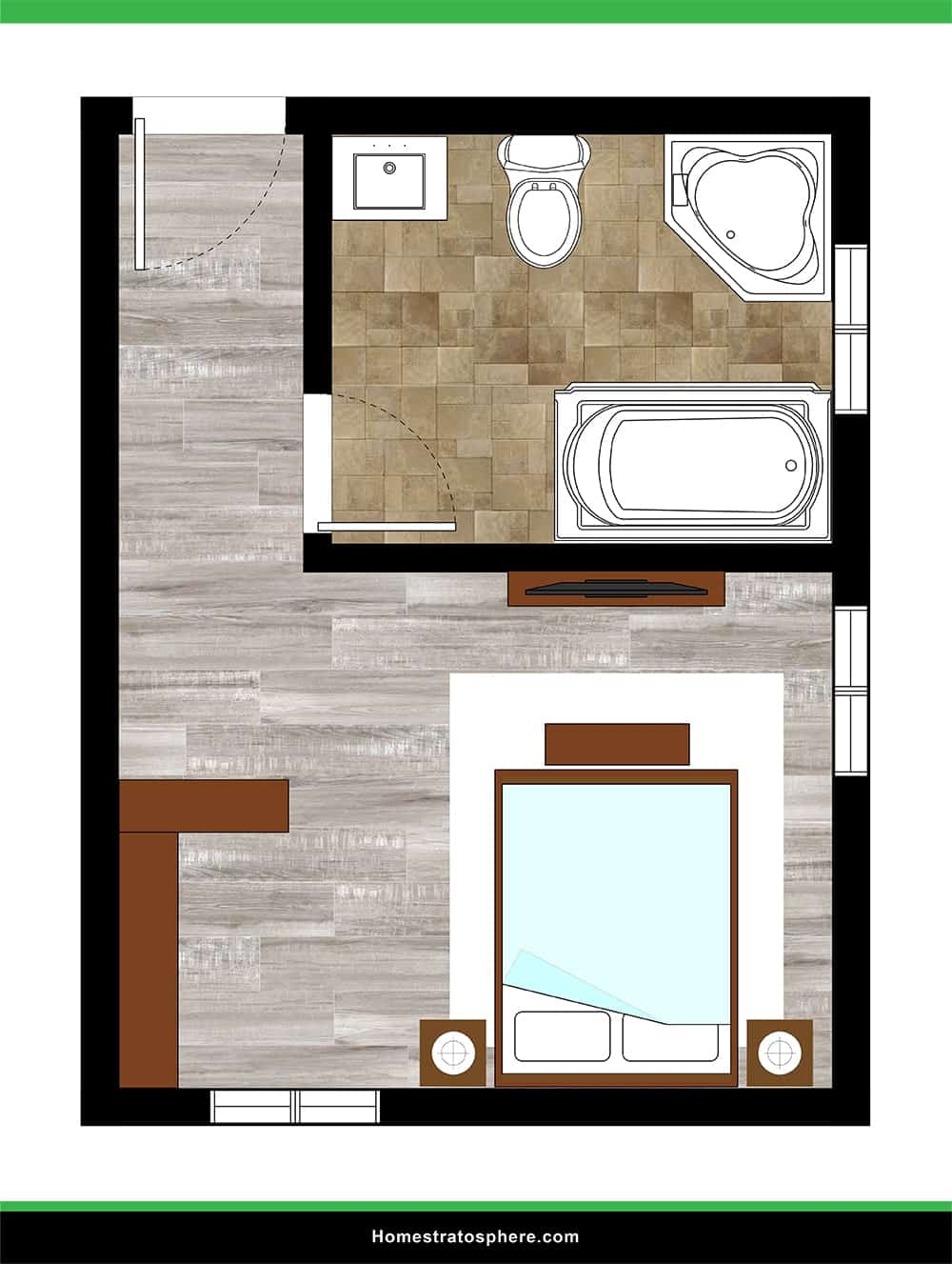 Large Primary Bathroom with Soaking Tub