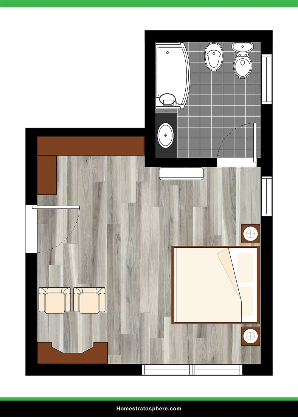 Large Primary Bedroom with Sitting Area