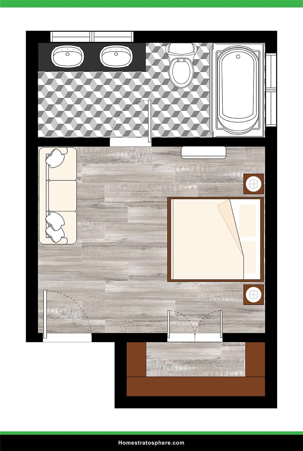 Grand Walk-In Closet with Sitting Area