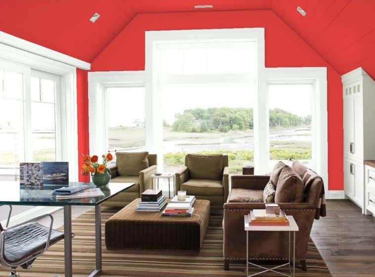 Bull's Eye Red by Benjamin Moore