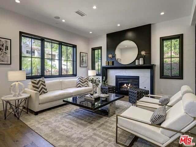 31 Black And White Living Room Decor Ideas Photos