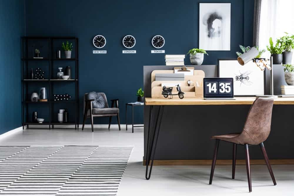 Ideas To Paint Blue Office Modern from www.homestratosphere.com