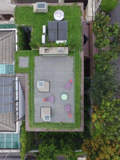 Aerial view of the Casa Box designed by Flavio Castro.