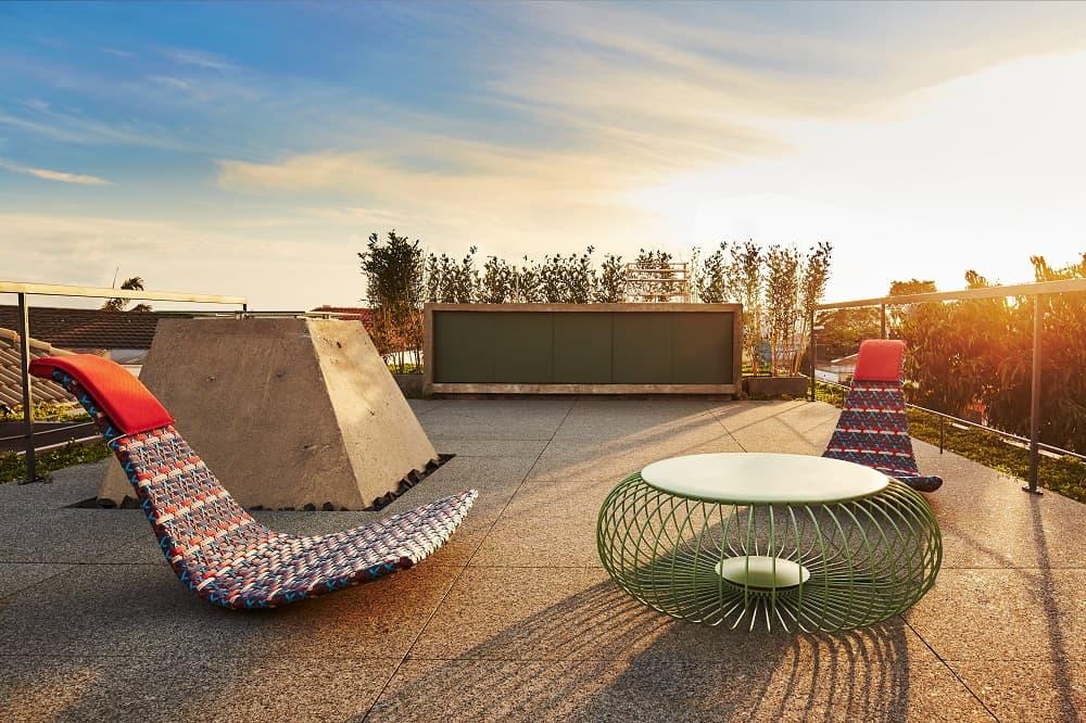 Rooftop in the Casa Box designed by Flavio Castro.