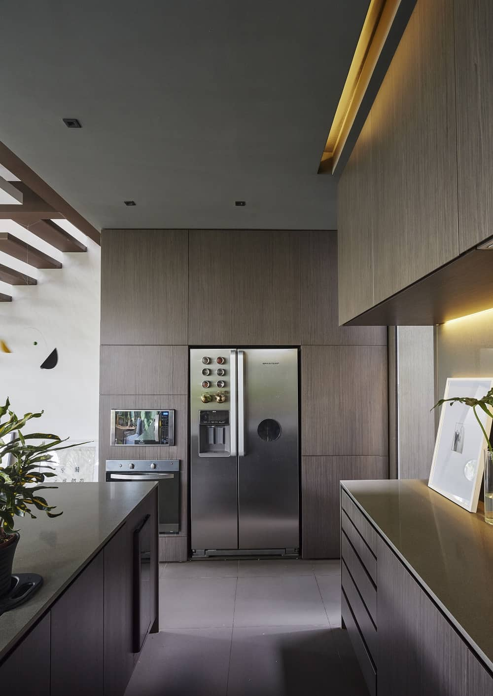 Kitchen in the Casa Box designed by Flavio Castro.