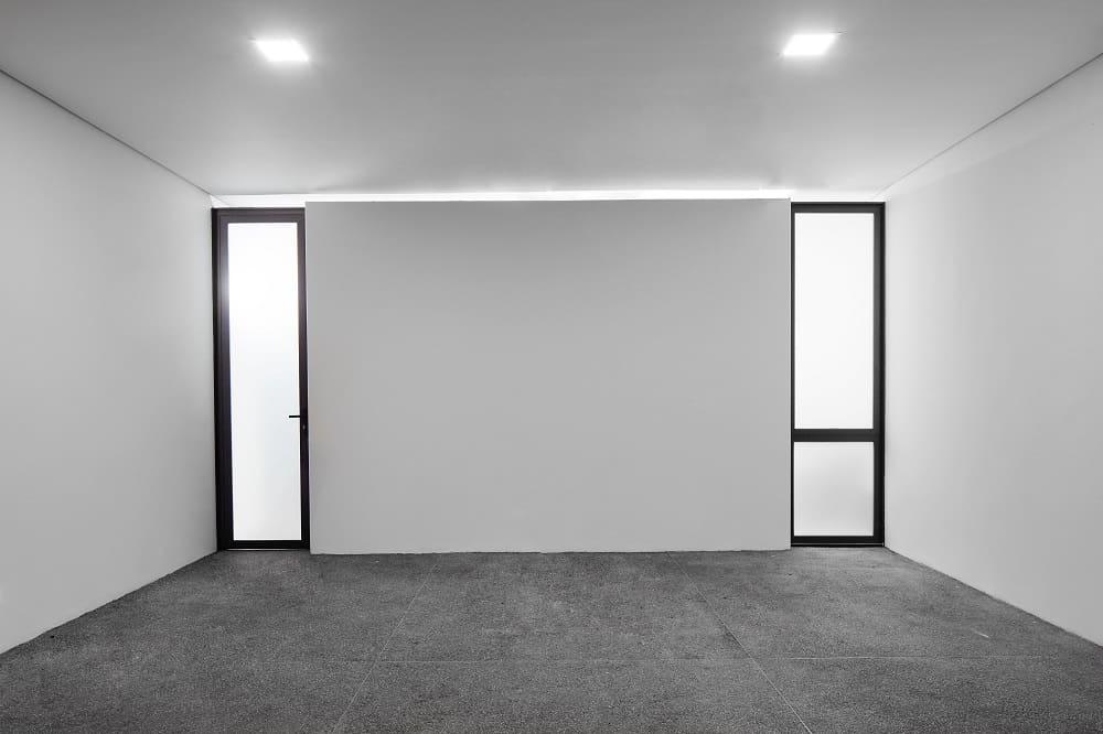 Open space in the Casa Box designed by Flavio Castro.