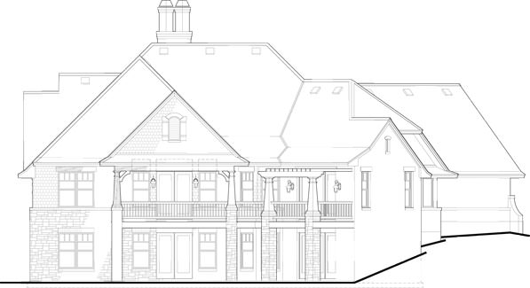 An illustrative representation of the front elevation of the house without measurements. Source: TheHouseDesigners.com