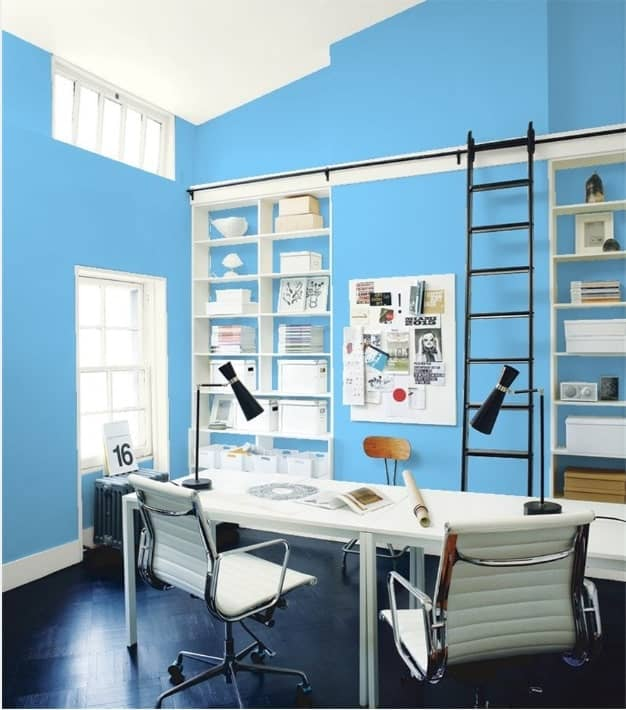 25 Of The Best Blue Paint Color Options For Home Offices