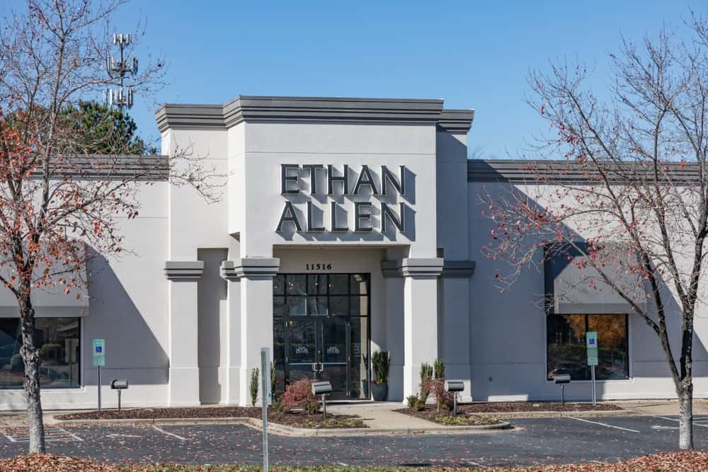 Ethan Allen retail store front in Pineville.