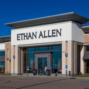 Ethan Allen Store front in Woodbury.