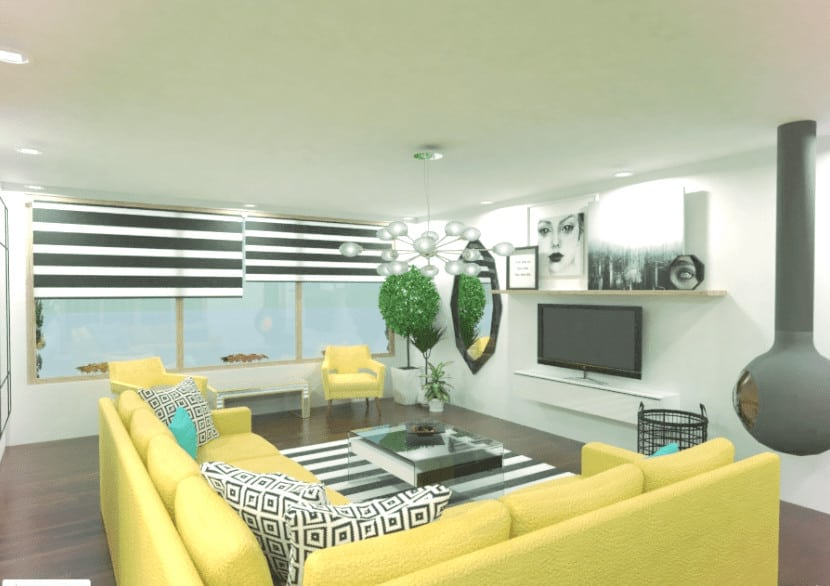 Living room designer