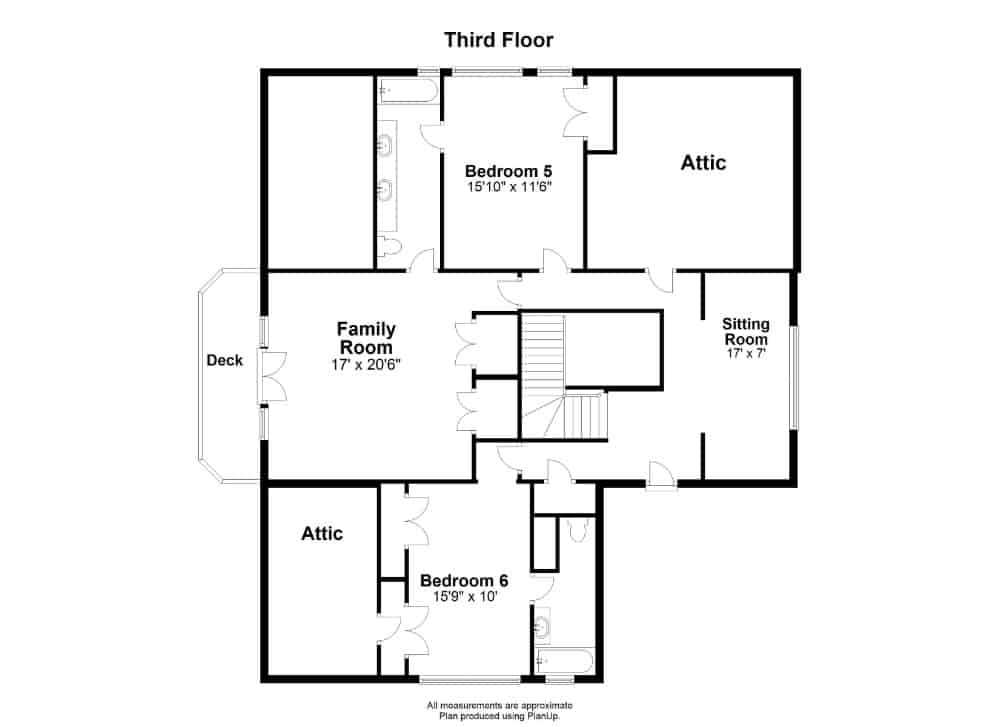 Here's the third floor floor plan of the house. Images courtesy of Toptenrealestatedeals.com.