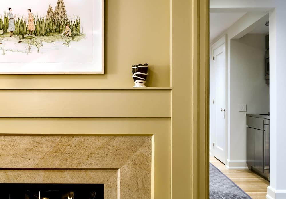 This is one of the fireplaces in the house. This one has a beige finish. Images courtesy of Toptenrealestatedeals.com.