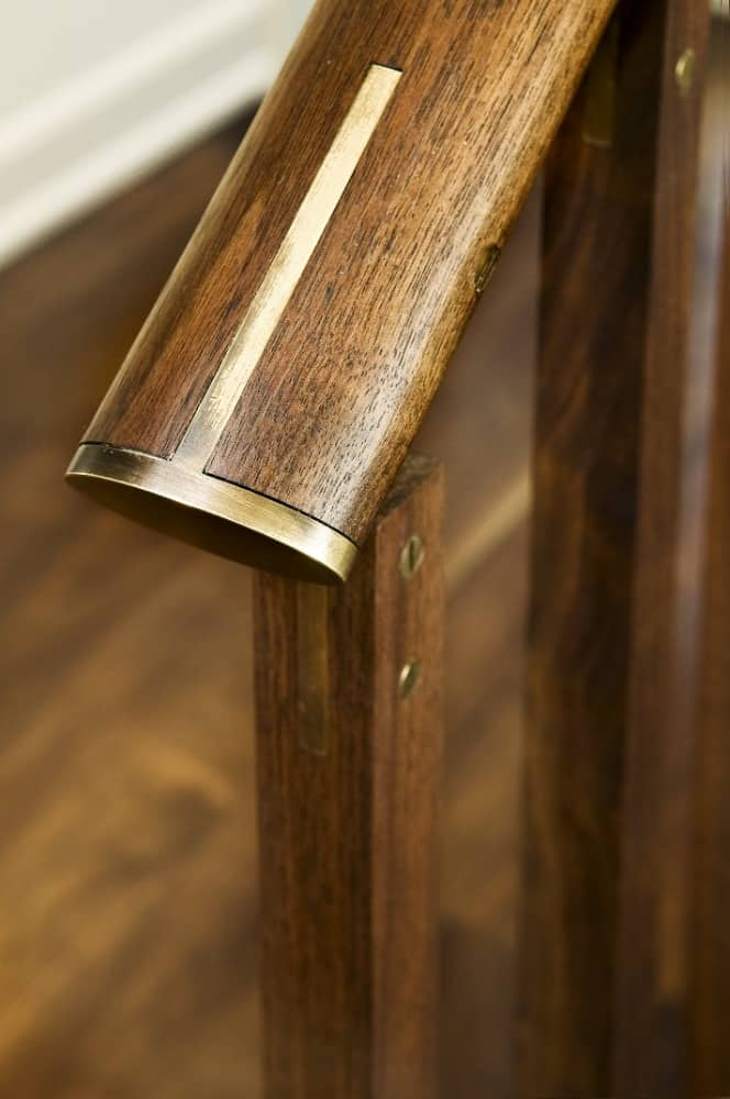 A focused and closer look at the staircase's elegant-looking handrails. Images courtesy of Toptenrealestatedeals.com.