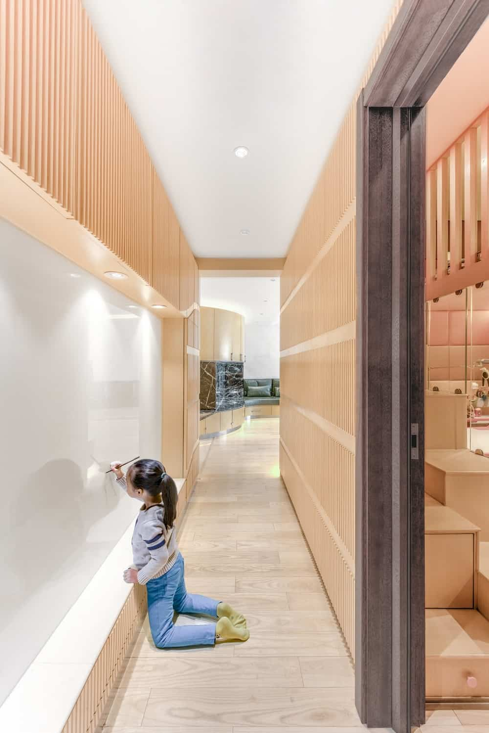 Kids room in the Home Space with Two Kids designed by Atelier Alter.