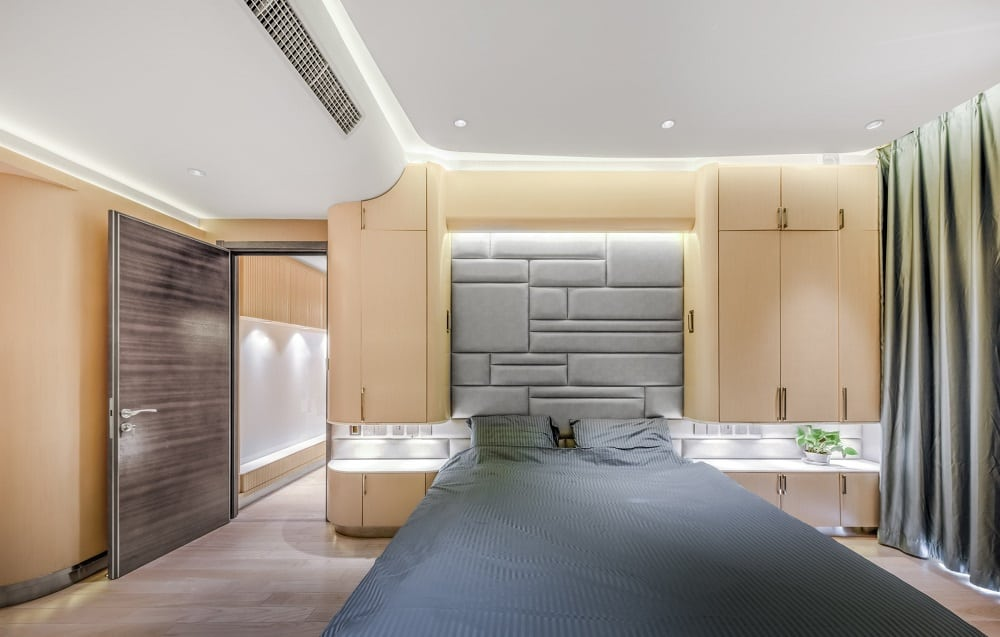 Bedroom in the Home Space with Two Kids designed by Atelier Alter.