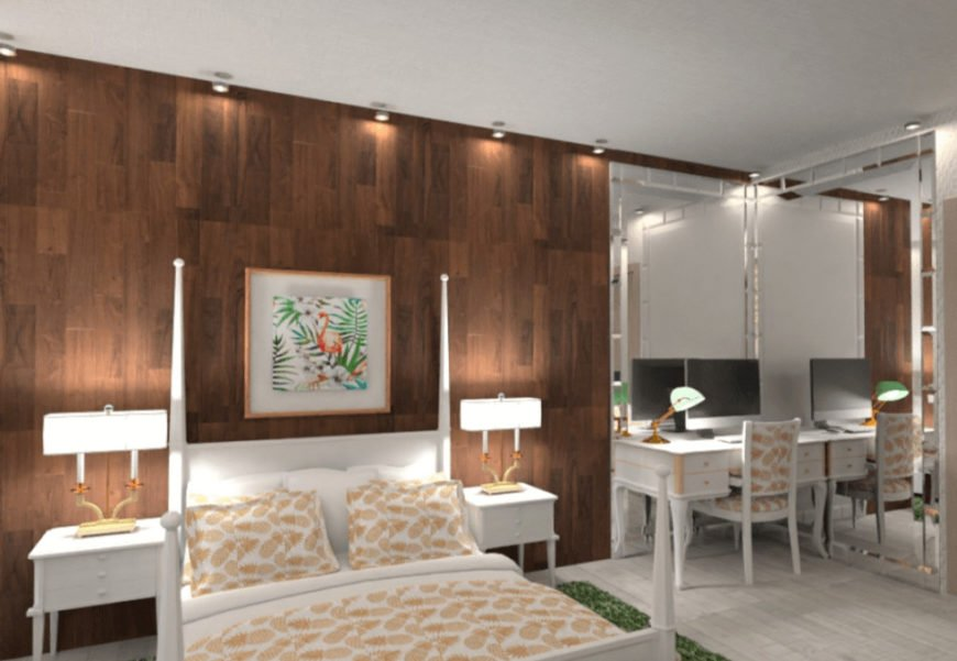 Detailed bedroom design