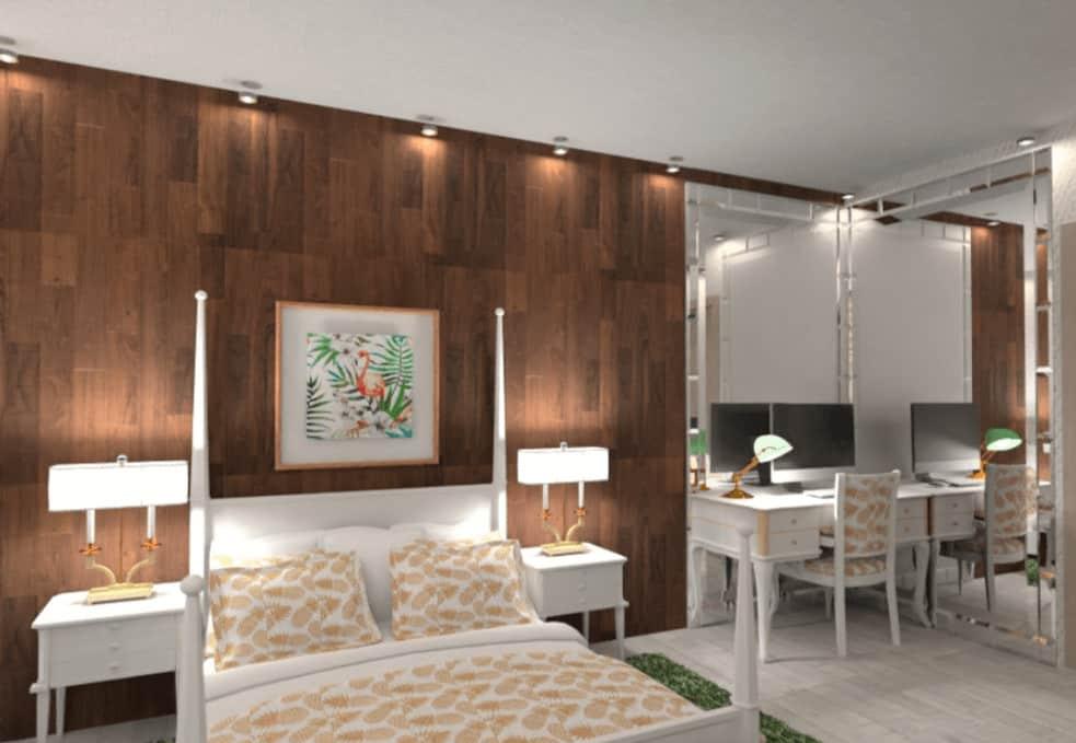 Detailed bedroom design