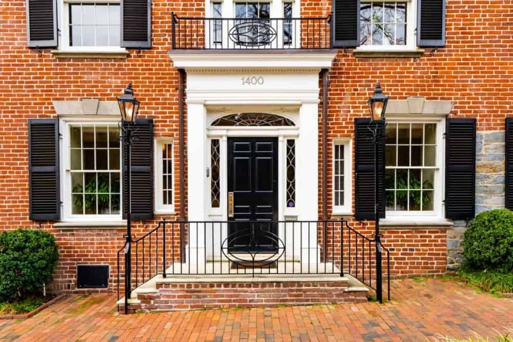 A look at the home's front entry showcasing the home's gorgeous red brick exterior. Images courtesy of Toptenrealestatedeals.com.