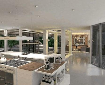 Contemporary kitchen design example