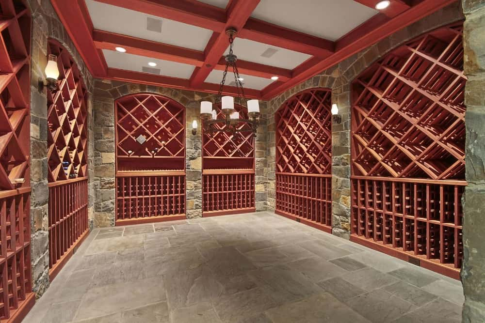There's a large wine cellar too, featuring multiple wine racks capable of housing hundreds of bottles. Images courtesy of Toptenrealestatedeals.com.